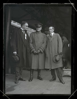 General John J. Pershing with Mayor George L. Baker and Governor Ben W. Olcott