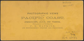 "Verso of, ""Residence of G. Copely, Esq., Cascades, Columbia River."" (Stereograph 1256)"