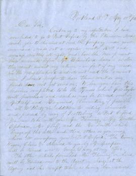 Letter from Joel Palmer to Capt. Rynearson