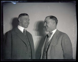 Ray Brooks and unidentified man