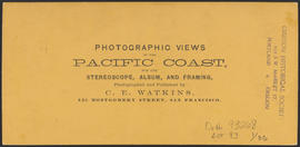 "Verso of, ""Oswego Iron Works, Oregon."" (Stereograph 1212)"
