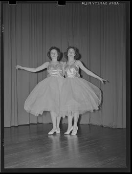 Two dancers in costume