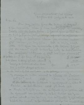 Draft of Letter from Joel Palmer to H.W. Smith