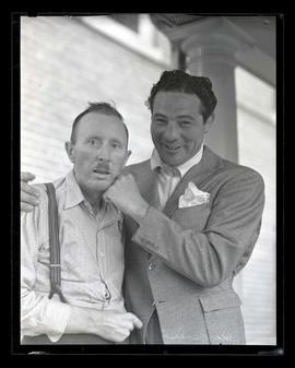 Max Baer and unidentified man