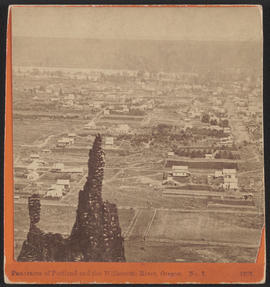 """Panorama of Portland and the Willamette River, Oregon. No. 7.""  (Stereograph 1207)"