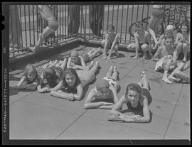 Children sunbathing in Sellwood Park