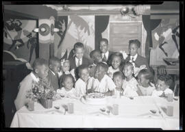 Teddy McDaniel and friends during birthday party at Cotton Club, Portland