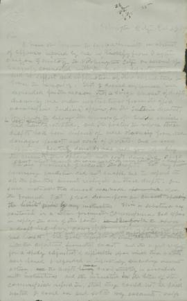Copy of letter written to Commissioner of Indian Affairs