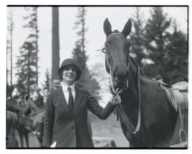 Miss Ballou and horse