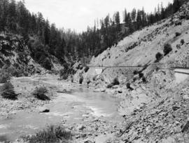 Southern Pacific Railroad at Corn Creek Canyon, circa 1906