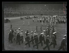 Members of civil defense organizations at Multnomah Stadium, Portland