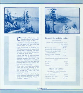 Crater Lake brochure (inside)