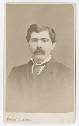 Frank G. Abell portrait of an unidentified man