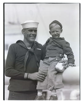 Unidentified sailor and young boy