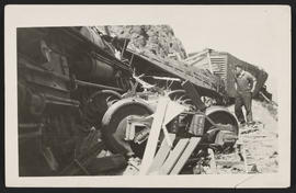 Wreck of Northern Pacific Railway Freight Train
