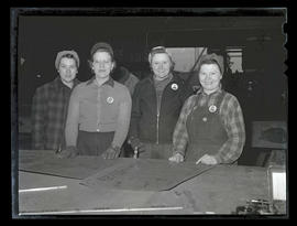 Four workers at Albina Engine & Machine Works, Portland