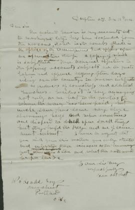 Copy of letter to W.S. Ladd