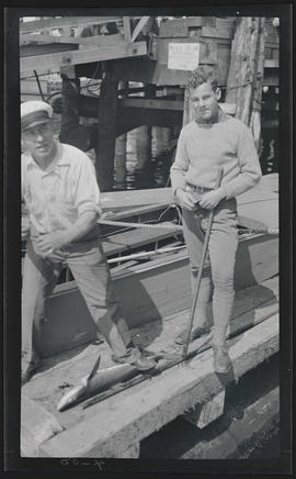 Men with spiny dogfish