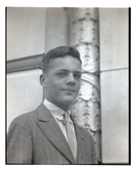 Unidentified young man, head and shoulders portrait