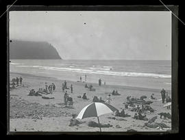People on beach at Seaside, Oregon