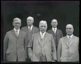 Frank Orren Lowden and four unidentified men