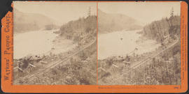 """View on the Columbia River from the Middle Block House."" (Stereograph 1264)"