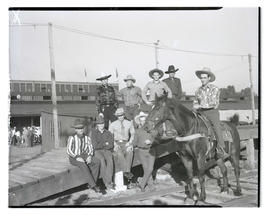 Group portrait, possibly at livestock show