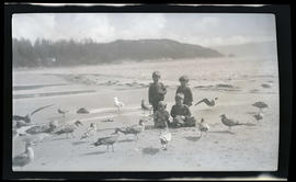 Children with gulls