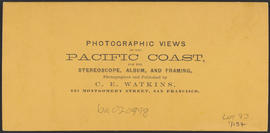 "Verso of, ""Upper Cascades, Columbia River."" (Stereograph 1270)"