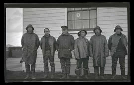 Crew of Point Adams Coast Guard station near Hammond, Oregon