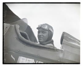 Lieutenant L. C. Mallory, pilot, at air show