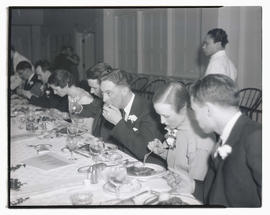 Unidentified diners at event