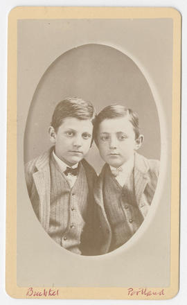 Joseph Buchtel portrait of two unidentified boys