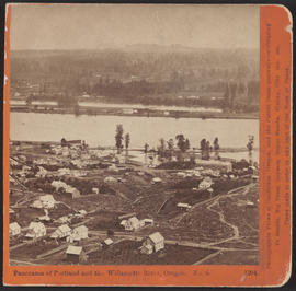 """Panorama of Portland and the Willamette River, Oregon. No. 4."" (Stereograph 1204)"