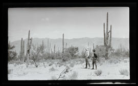 William and Irene Finley among cactuses