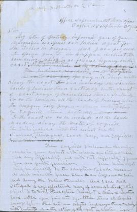 Draft of instructions to Edwin P. Drew
