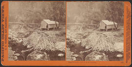 """Eagle Creek Saw Mill, O.R.R. Cascades."" (Stereograph 1296)"