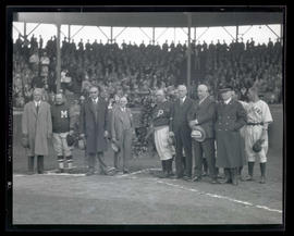 Ceremony at home plate