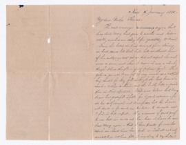 Letter from Henry Failing to Thomas Robertson, death of Mary Freeland (Corbett) Robertson