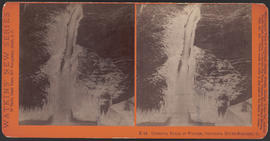 """Oneonta Falls in Winter, Columbia River Scenery, O."" (Stereograph E42)"