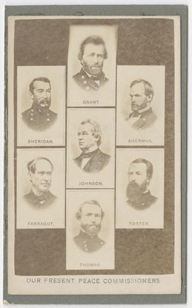 Seven drawn portraits of Union officers