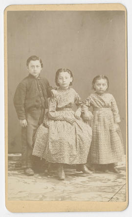 Joseph Buchtel portrait of three unidentified children