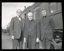 Cardinal Hayes and two unidentified men