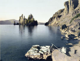 Phantom Ship from Chaski Bay, Crater Lake, Oregon