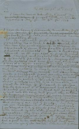 Copy of letter to accompany property return