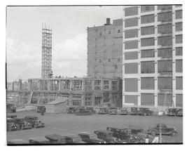 Addition under construction at Montgomery Ward, Portland