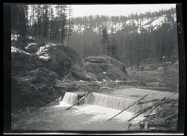 Spillway on river