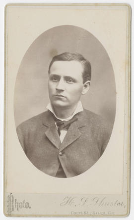 Portrait of an unidentified man from H. S. Shuster Studio