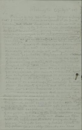 Letter from Joel Palmer to James W. Denver