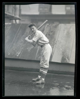 Baseball player, possibly for Bradford Clothes Shop